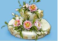 эксклюзивный свадебный торт
