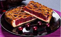 пирог с натуральной вишней