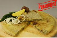 oсетинский пирог c картофелем и жареным луком