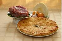 осетинский пирог с говядиной капустой и сыром
