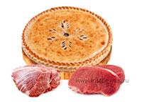 осетинский пирог с говядиной и бараниной